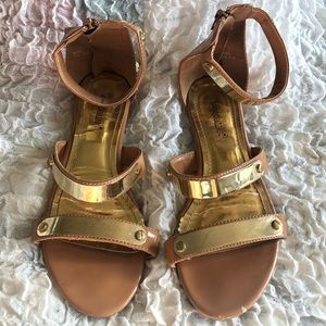 Gold detailed 'Miley' sandal